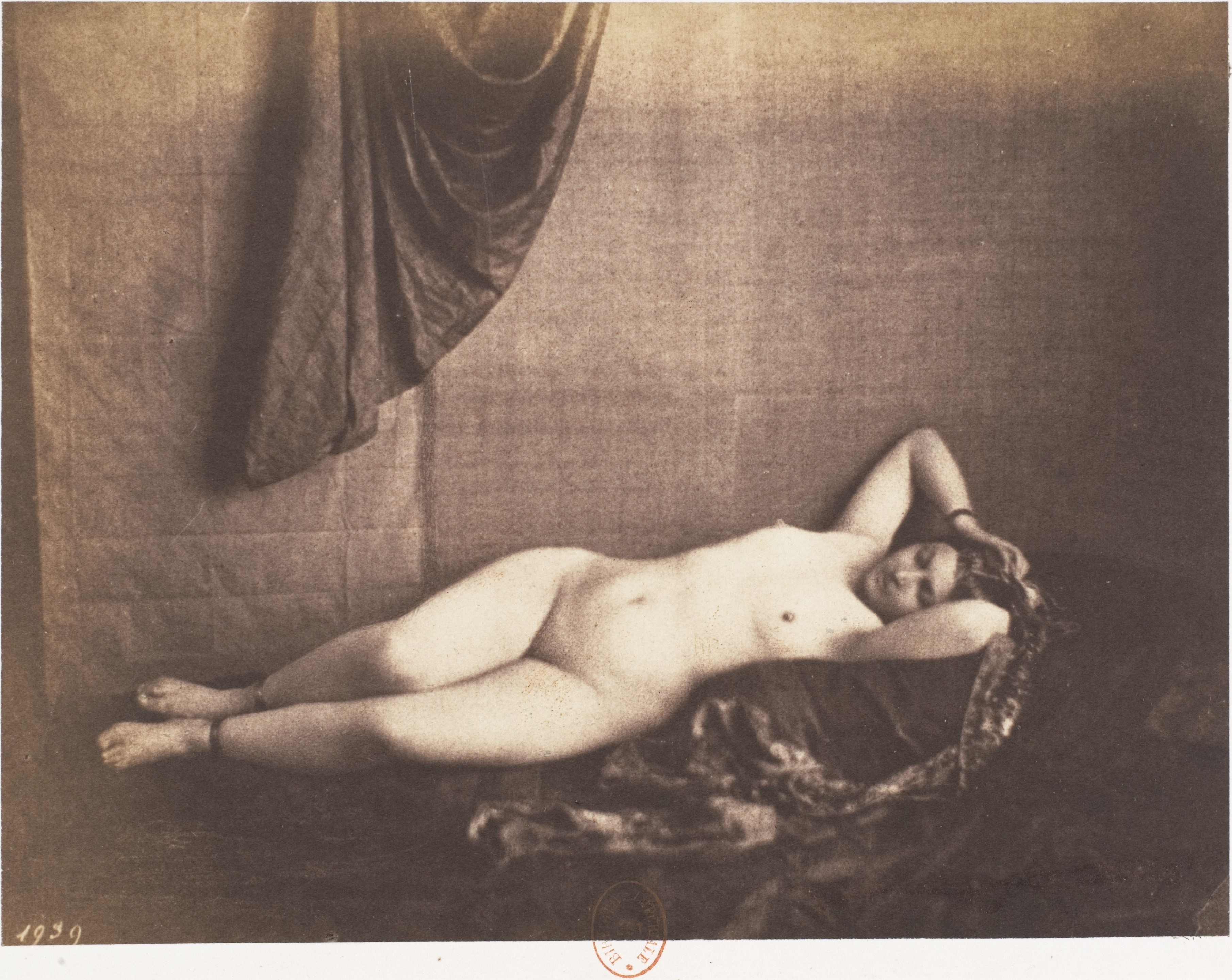 Accept. reclining female nude painting something is