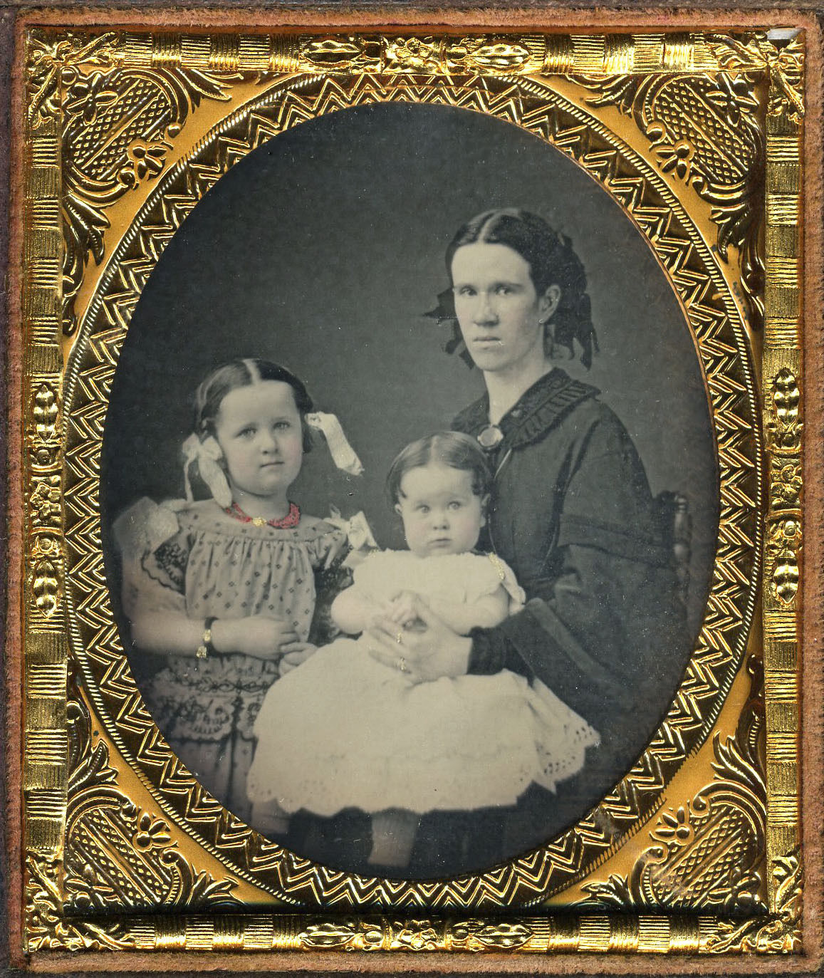 Double Cased Family Portrait 1850s Costume Cocktail