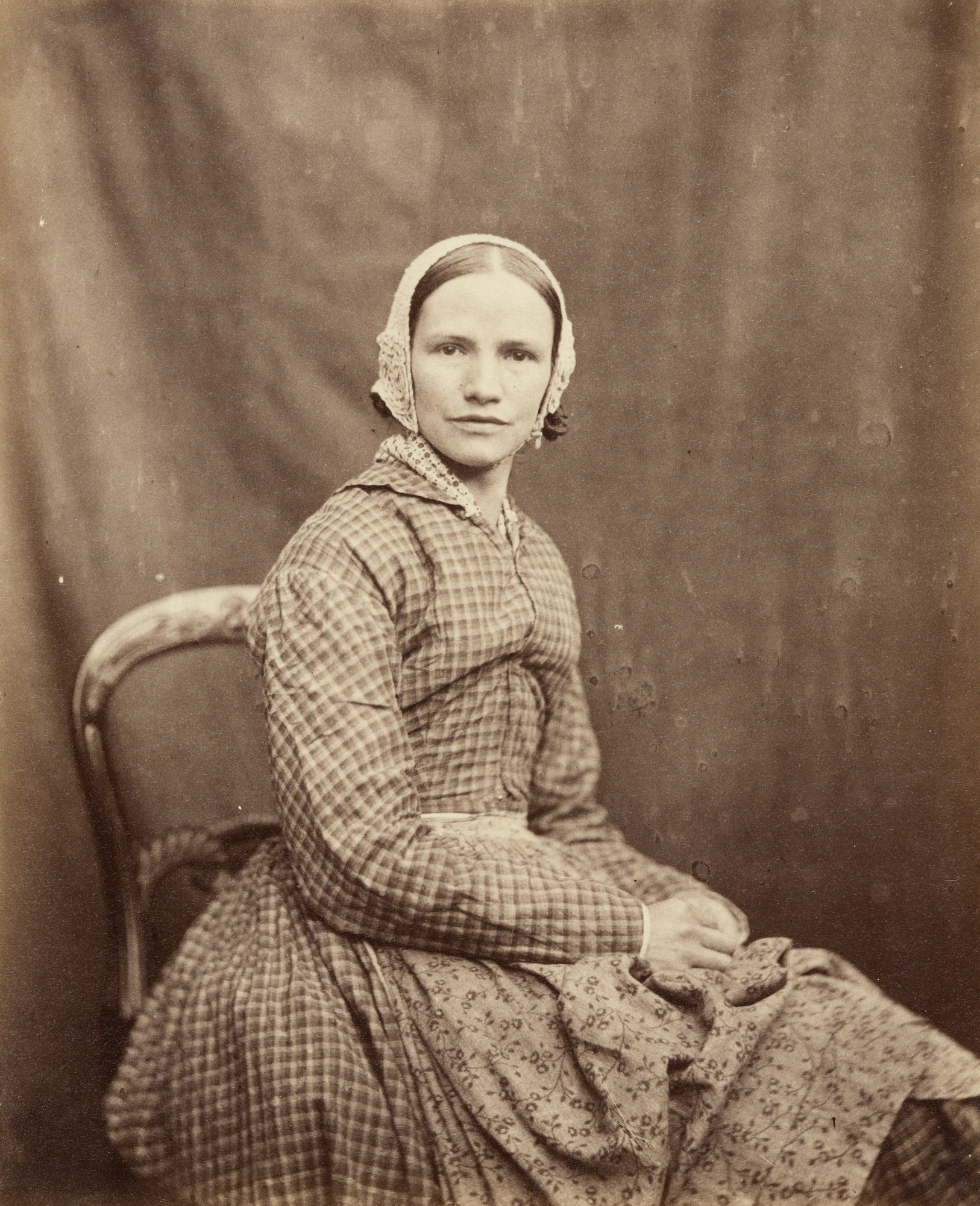 Portraits of patients at Victorian lunatic asylum treated ...   Lunatic Woman