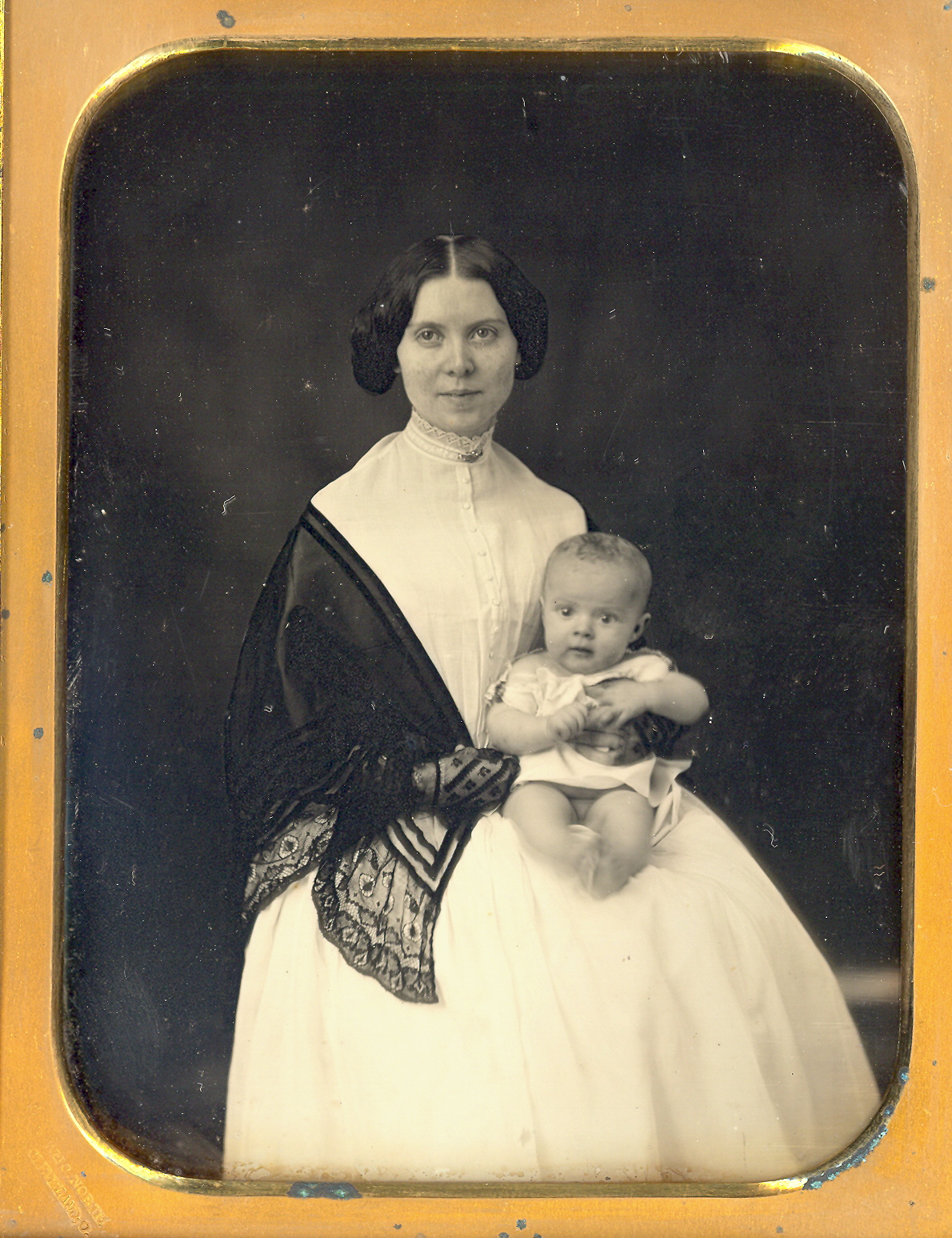 Mother And Baby Ca 1850s Costume Cocktail